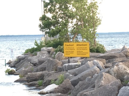 Lake Simcoe Caution Sign