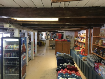 Inside of small store in Snug Harbor