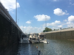 Rafted in second lock