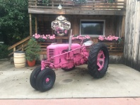 Why is the tractor pink? No idea..