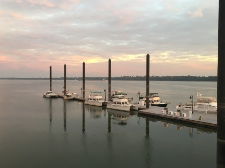 Boats at Paducah in morning