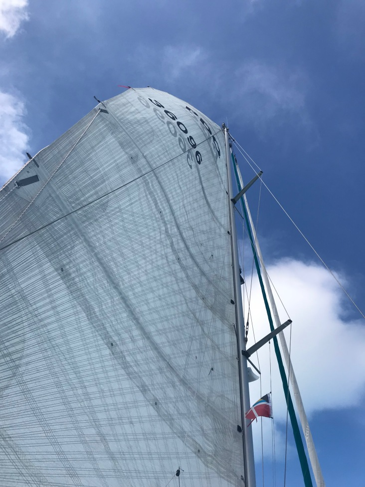 Mainsail flapping in no wind