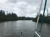 Entering our anchorage