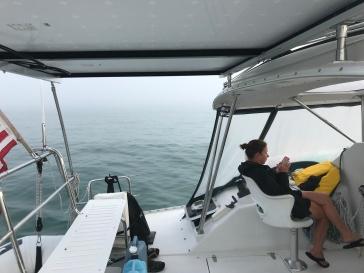 View in the ocean...lots of fog