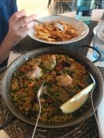 First night dinner? Paella.